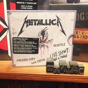 Metallica Live Sh*t: Binge & Purge 3 Cd 2 Dvd Tamaño Cd