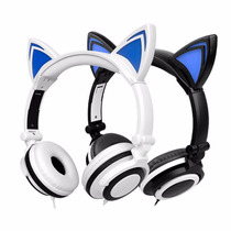 Audífonos Con Forma De Orejas De Gato Luz Led Envio Grat