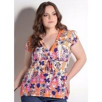 Blusa Plus Size Feminina ( Roupa Gordinha ) Florida