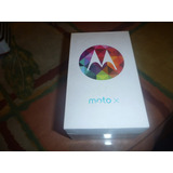 Caja Motorola Moto X Negro Con Sacachip,manuales