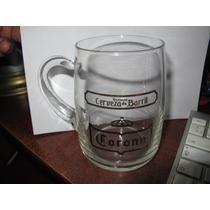 1 Antiguo Tarro De Vidrio Cerveza Corona De Barril (b