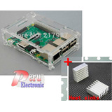 Case Raspberry Pi B+ O Raspberry Pi 2 Carcasa + Disipadores