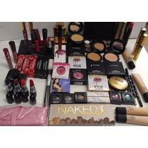 50 Pzas Mac Incluye Paleta Naked-set Brochas-paleta Correcto