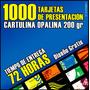 1000 Tarjetas De Presentación En Cartulina Opalina 200 Gr