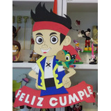 Cartel Cumpleaños - Jake El Pirata - Goma Eva 43 X 36 Cm