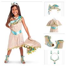 Vestido Princesa Pocahonta Luxo Original Da Disney P/entrega