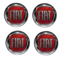 Emblema Fiat Vermelho Botom Calota Roda Resinado 48 Mm 4pçs