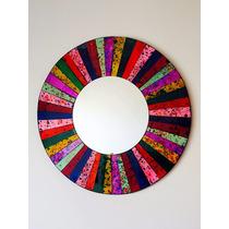 Espejo Con Espejitos Colores Muy Fino Decoracion Diseño