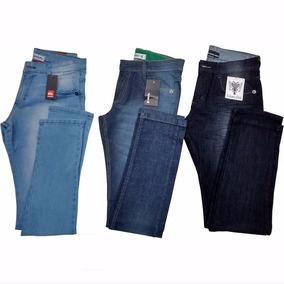 Calça Jeans Masculina Diversas Marcas Famosas Kit 3 Peças