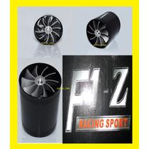 F1-z Turbo Superchanger Dual Hélice Turbina No Br Cor Preto