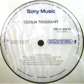 Cecilia Toussaint - Cuatro Estrofas Single Promo Nuevo Lp