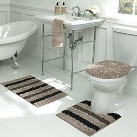 Bath Frieze Deliso Set De 3 Alfombras Afelpadas Para Baño Co
