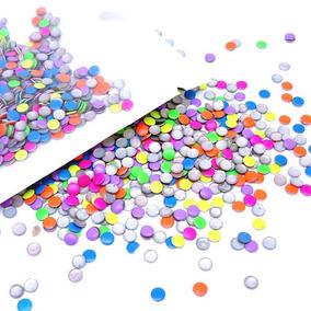 Mix 1,000 Estoperoles 6 Colores Neón Decoración Uñas Cristal
