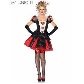 ** Traje Poker Vestido Guantes Disfraz Cosplay Halloween **
