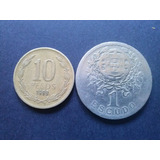 Moneda Portugal 1 Escudo Alpaca 1928 (c24)