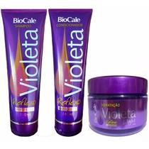Kit Matizador Shampoo, Cond. E Mascara Violet 180g - Biocale