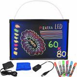 Pizarra Led Luminoso 60x80 Cm + 8 Plumones 11439 / Fernapet