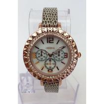 Reloj Dama Geneva, Casual, Análogo, Imitación Piel