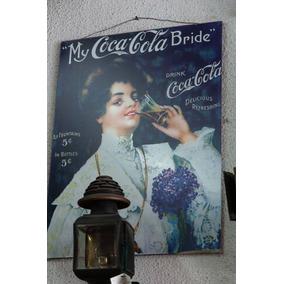 Cartel Coca Cola. Mrs Bride ,!!! - Antig La Rueda - _lr