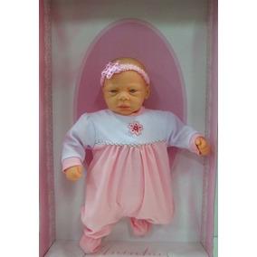 Boneca Bebê Aninha 4 Frases Rosa