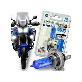 Lâmpada Super Branca Moto H4 8500k 35w 12v Efeito Xênon Unid