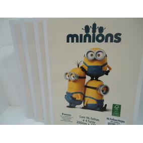 Bloco P/ Fichario Minions Univ 96 Fls- Foroni