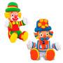 2 Bonecos Patati E Patatá Palhaço Da Tv Brinquedo