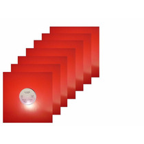 Capa Para Disco Vinil Lps Djs 12 Polegada (10 Unid) Vermelha