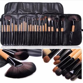 Kit De Pincel Maquiagem Profissional Com 24 Pcs C/estojo