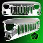 Parrilla Frontal Cromada Jeep Wrangler 2007 Al 2015 Importad