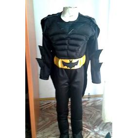Traje Disfraz De Batman Musculoso
