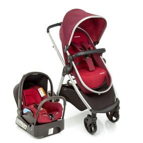 Carrinho Bebê Conforto Travel System Discovery Red Maxi Cosi