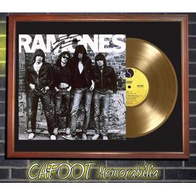 The Ramones Ramones Tapa Lp Firmada Y Disco Oro Cuadro