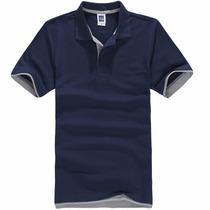 Camisa Polo Manga Curta De Algodão