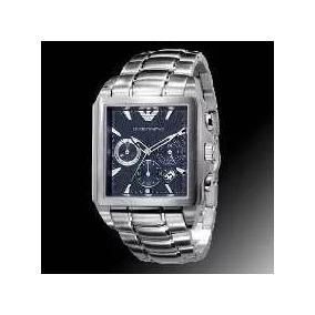 Relógio Emporio Armani Ar0660 Original Azul Quadrado C844