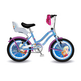 Bicicleta Nena Disney Frozen Elsa Ana Rodado 14 Con Rueditas