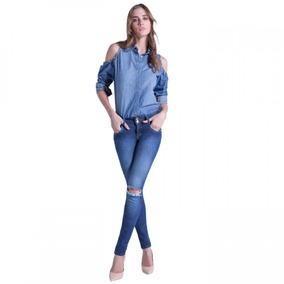 Calça Jeans Cigarrete Low Feminina Ana Hickmann Skinny