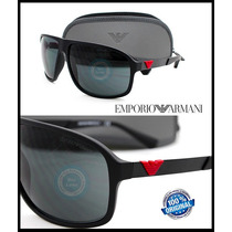 Lentes De Sol Emporio Armani Modelo Ea4029-5326 Black Rubber