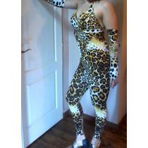 Casuit Disfraz Enterito Lycra Leopardo Somos Fabricantes