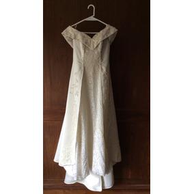 Unico Vestido Novia Diseñado Por Gabriel Lage Bordado A Mano