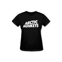 Baby Look Feminina Arctic Monkeys Camiseta Rock Banda Camisa