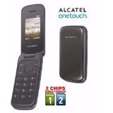 Celular Alcatel 1035d Com Flip 2 Chips Abre Fecha C297 Idoso