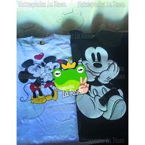 Poleras Mickey Mouse Estampados La Rana