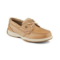 Sperry Top Sider Linen & Gold Intrepid Zapato De Cuero Piel