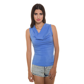 Blusa Azul Elegante Cuello Bobo Saints Clothes