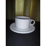 Taza De Cafe Con Plato Porcelana Ceramica Vidrio