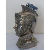 Antiguo Encendedor Con Busto De Soldado Romano