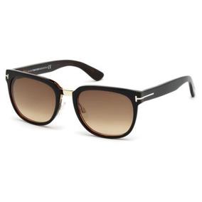 Oculos De Sol Para Mulher Tom Ford Rock Preto Lente Marrom