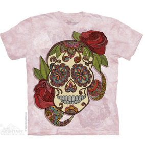 Camiseta The Mountain - Paisley Sugar Skull / Caveira