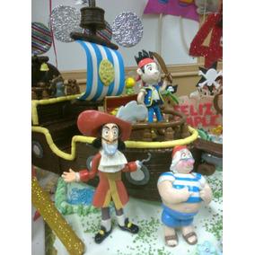 Jake Y Los Piratas! (barco) Adorno Torta En Porcelana Fria